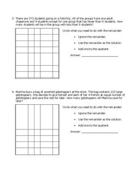 4.4H Interpreting Remainders Practice