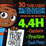 Math TEK 4.4H ★ One & Two Step Multiplication & Division Task Cards ★ 4th Grade