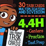 Math TEK 4.4H ★ One & Two Step Multiplication & Division Task Cards ★ 4th Grade