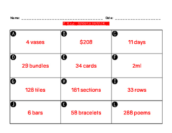 4.4H Task Cards One-and Two-Step Word Problems with Multiplication & Division
