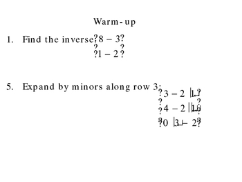 4-4a Inverses of 3x3 Matrices