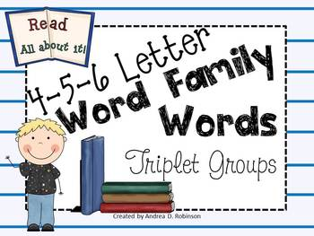 4-5-6 Letter Word Families Activity