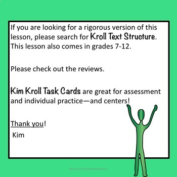 Text Structure Lesson, PowerPoint and MORE Grades 4-6