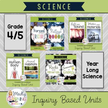 ONTARIO SCIENCE: Grade 4/5 Complete Inquiry Unit ** FULL YEAR BUNDLE **