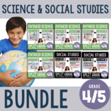 ONTARIO: Gr. 4/5 Science and Social Studies Inquiry Unit ** FULL YEAR BUNDLE **