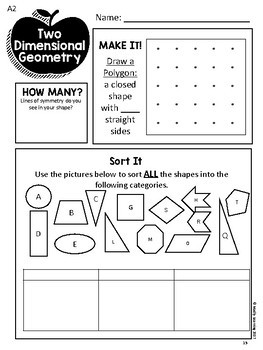 2-Dimensional Geometry: Differentiated Daily Math For Ontario Gr. 3-6