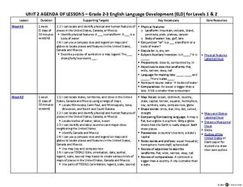 4-5 ELD English Language Development Levels 1, 2 – Unit 2
