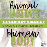 4/5 Habitats and Human Body - Inquiry Unit & Habitats Research Pack BUNDLE
