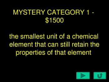Science Review Jeopardy Round 3
