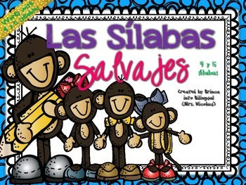 4 & 5 Syllables Unit in SPANISH - Unidad de 4 & 5 silabas Grades PK-2