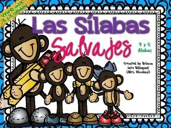 4 & 5 Syllables Unit in SPANISH - Unidad de 4 & 5 silabas