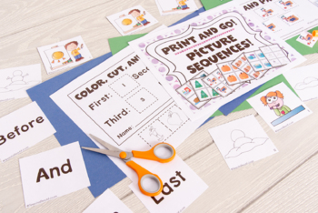 4, 5, and 6 Picture Sequences in Color and Black & White