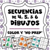 4, 5, and 6 Picture Sequences in Color and Black and White in Spanish