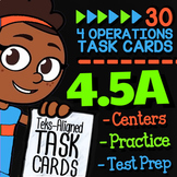 Math TEK 4.5A ★ Multi-Step Word Problems ★ 4th Grade Task Cards