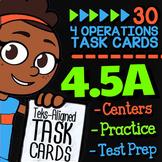 Math TEK 4.5A ★ Multi-Step Word Problems ★ 4th Grade STAAR Math Task Cards