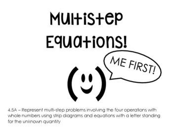 4.5A Multi-Step Word Problems with Equations