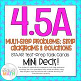 4.5A: Strip Diagrams & Equations STAAR Test Prep Task Card