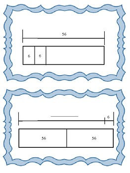 4.5A Strip Diagrams, Equations,Word Problems & Variables Matching Activity