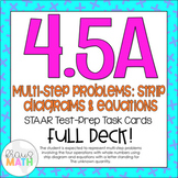 4.5A: Strip Diagrams and Equations STAAR Test-Prep Task Cards (GRADE 4)