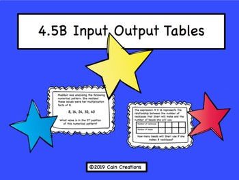 4.5B Input Output Tables