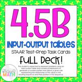 4.5B: Input-Output Tables STAAR Test-Prep Task Cards (GRADE 4)
