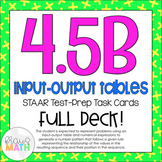 4.5B: Input-Output Tables STAAR Test-Prep Task Cards (GRADE 4)