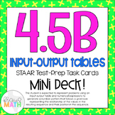 4.5B STAAR Test Prep Task Cards MINI DECK!