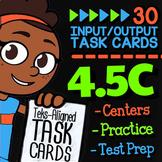 Math TEK 4.5C ★ Perimeter & Area ★ 4th Grade STAAR Math Practice Task Cards