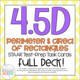 4.5D: Perimeter & Area STAAR Test-Prep Task Cards (4.MD.3)