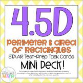4.5D: Perimeter & Area STAAR Test Prep Task Cards MINI DECK!