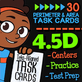 Math TEK 4.5D ★ Perimeter & Area ★ 4th Grade Task Cards