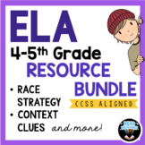 Distance Learning 4-5th Grade ELA Reading and Writing Bundle