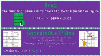 4-6 Math Word Wall