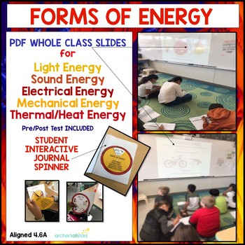 4.6A Forms of Energy PDF Slides, Interactive Journal, Pre/Post Assessment