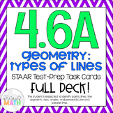 4.6A: Geometry (Types of Lines) STAAR Test-Prep Task Cards (GRADE 4)