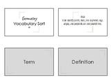 4.6A Math: Vocabulary Sort