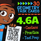 Math TEK 4.6A ★ Lines & Angles ★ 4th Grade STAAR Math Test Prep Task Cards