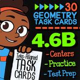 Math TEK 4.6B ★ Lines of Symmetry ★ 4th Grade STAAR Math Test Prep Task Cards