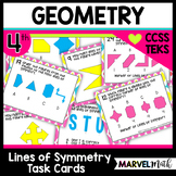 4.6B Lines of Symmetry STAAR PREP Task Cards by Marvel Math