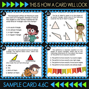 4.6C Math ★ CLASSIFYING TRIANGLES ★ Math TEK 4.6C ★ TEKS-Aligned Task Cards