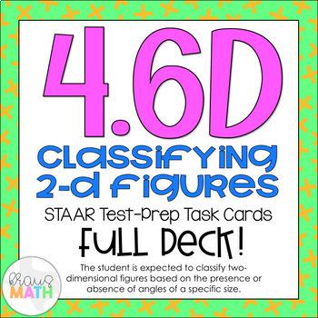 4.6D: Classifying 2D Polygons STAAR Test-Prep Task Cards (GRADE 4)