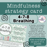 4-7-8 Breathing - Mindfulness strategy card
