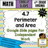 4.7 Perimeter and Area Google Slides Digital Resource