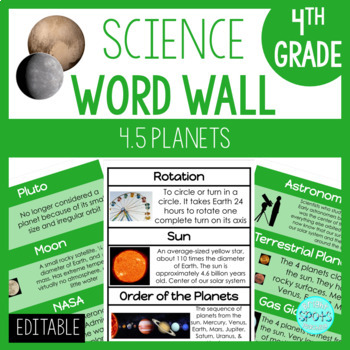 4.7 VA SOL Science Planets Word Wall