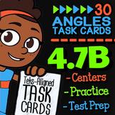 Math TEK 4.7B ★ Angles as Parts of a Circle ★ 4th Grade Task Cards