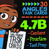 Math TEK 4.7B ★ Angles as Parts of a Circle ★ 4th Grade STAAR Math Task Cards