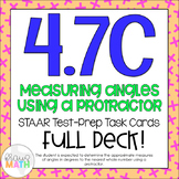4.7C: Measuring Angles with Protractors STAAR Test-Prep Ta