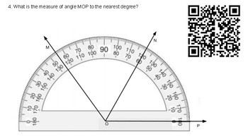 4.7C Reading a Protractor QR Task Cards