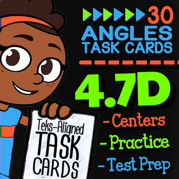 4.7D Drawing Angles Practice ★ 4th Grade Math TEK 4.7D ★ STAAR Math Task Cards