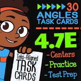 4.7E Math ★ ADJACENT ANGLES ★ 4th Grade Math TEK 4.7E ★ TEK-Aligned Task Cards